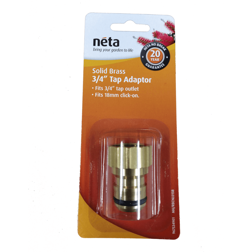 "Solid Brass 18mm X 3/4"" Tap Adaptor"