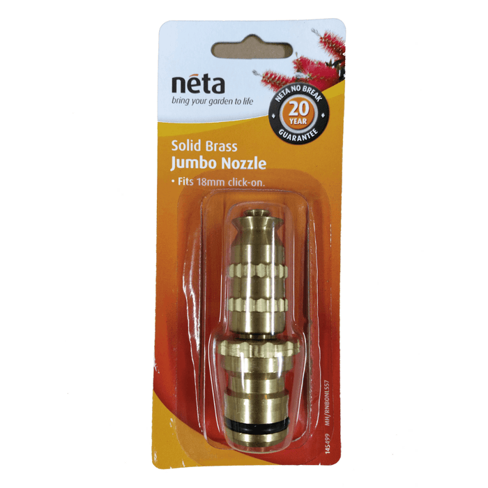 Solid Brass Jumbo Nozzle 18mm