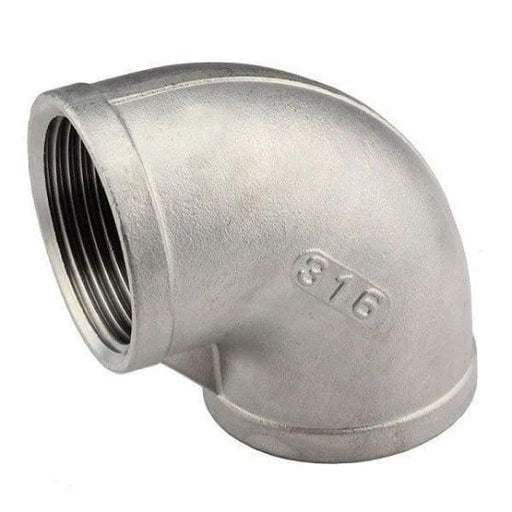 316 Stainless Steel Elbow FxF - 6 - Stainless Steel Threaded