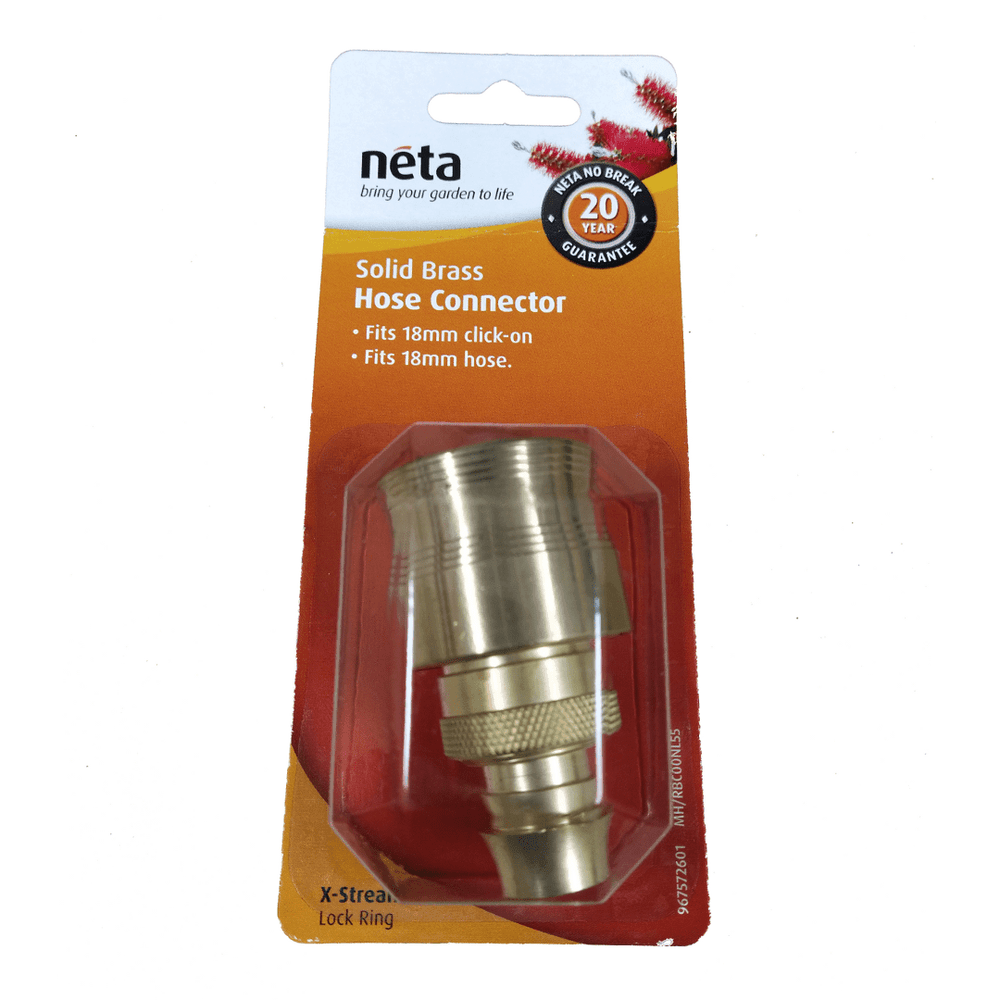 Solid Brass Hose Connector 18mm