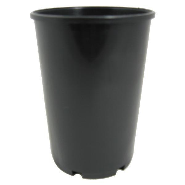 100mm Space Saver Black Plastic Pot