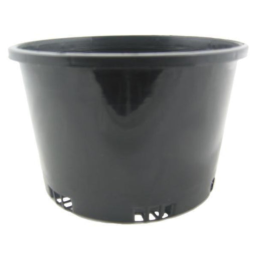 150mm Squat Plastic Pot Black