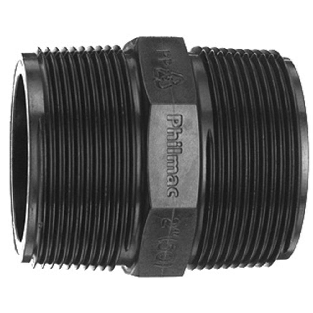 Poly Threaded Nipple - 1/4 - Poly Threaded