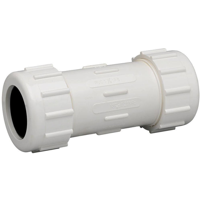 PVC Compression Coupler - 15mm - PVC Fittings