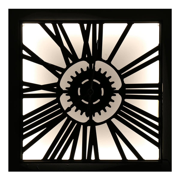 Abstract Roman Numerals Rectangular Light Up Clock