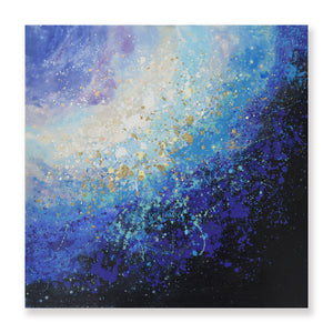 Hand Painted Galaxy High Texture Canvas with Gold Leaf