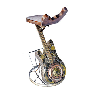 Wrought Iron Guitar Chair