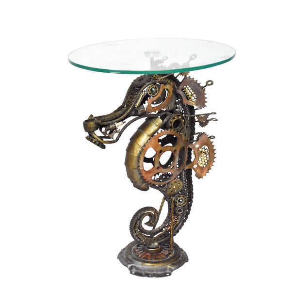 Wrought Iron Sea Horse Table