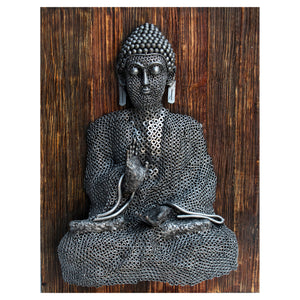 Buddha Sculpture Wood Base