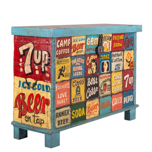 Hand Painted Vintage Ad Narrow Chest