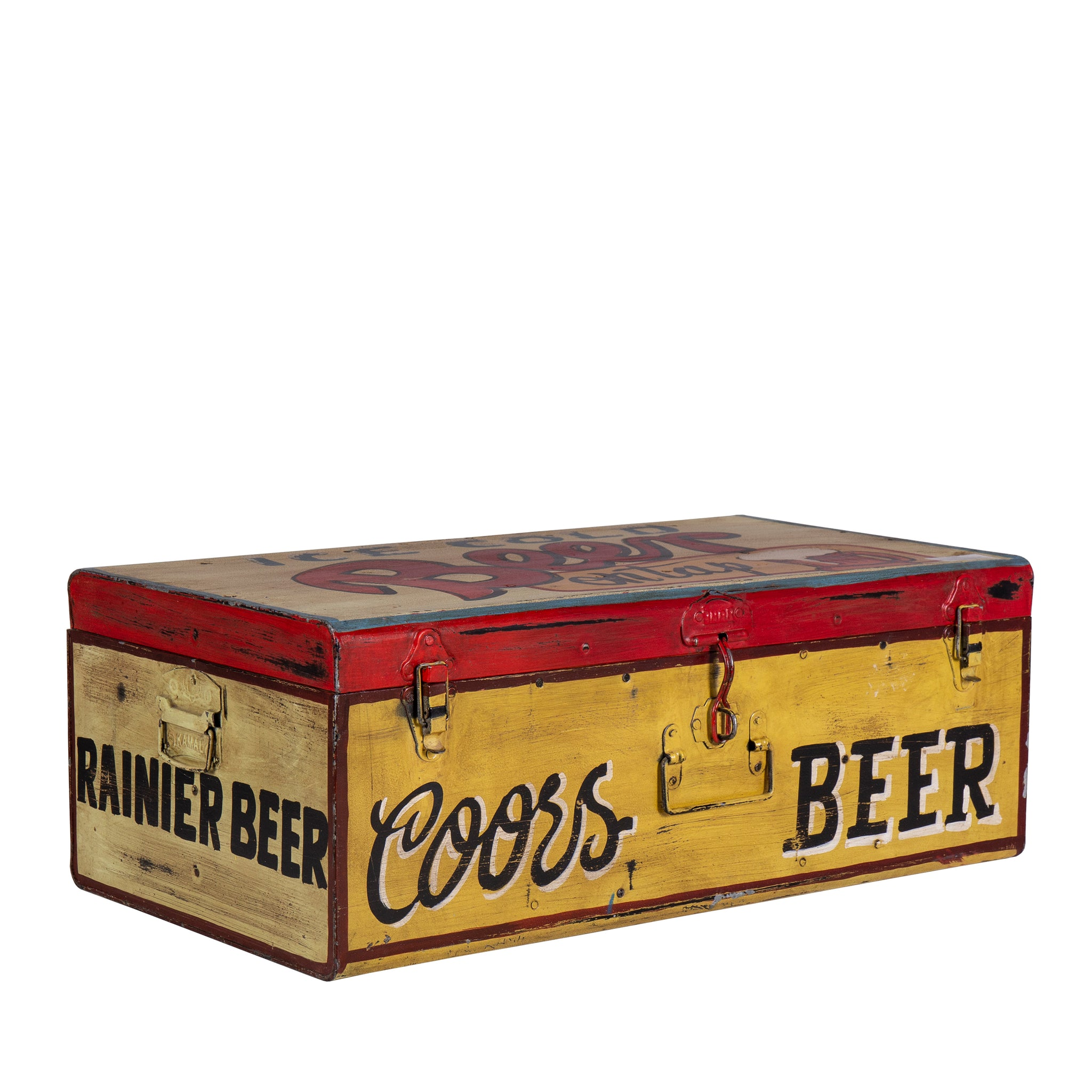 Hand Painted Iron Trunk Beer