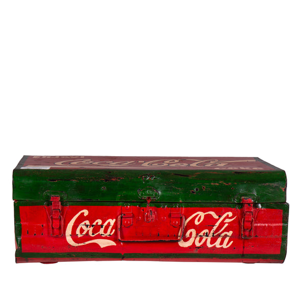 Hand Painted Iron Trunk Coco Cola