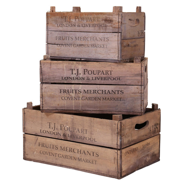 Set of 3 Nesting Rustic Apple Boxes - T.J Poupart Print