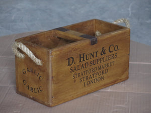 Rectangular Fish Box with Rope Handles - D Hunt & Co