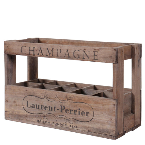 10 Bottle Vintage Wine Crate - Laurent Perrier
