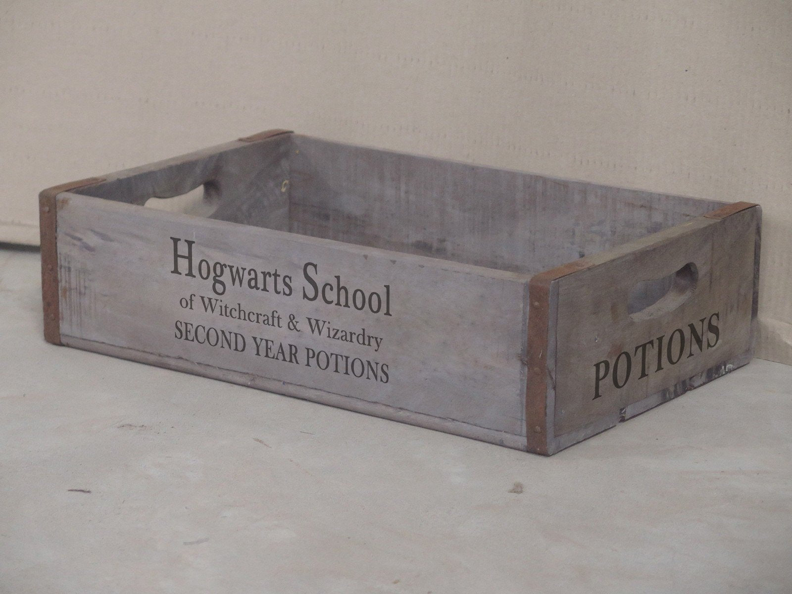 Rustic Rectangular Tray / Box - Hogwarts School Box