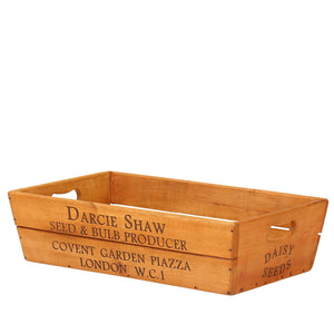 Darcie Shaw Large Vintage Style Wooden Flower Box