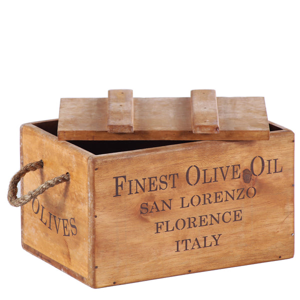 Finest Olive Oil Wooden Lidded Chest Box