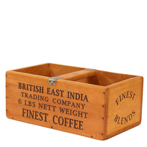 British East India Finest Coffee Large Vintage Box