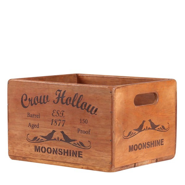 Crow Hollow Moonshine Box for Display Rack
