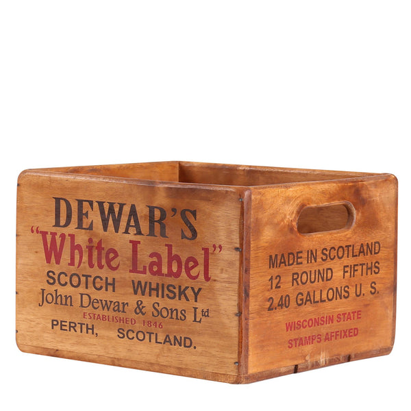 Dewar's White Label Scotch Whisky Box for Display Rack