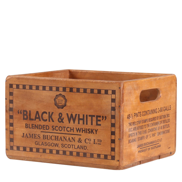 Black & White Blendid Scotch Whisky Box for Display Rack
