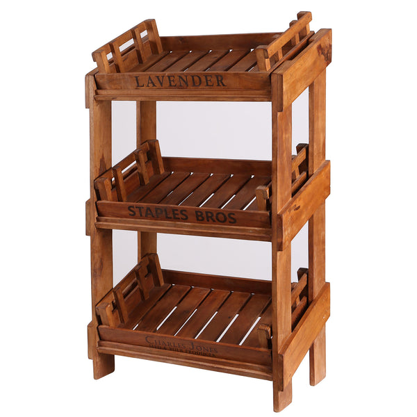 Display Rack with 3 Trays - Lavender - Staples Bros - Charles Jones