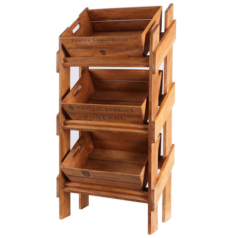 Vegetable Display Rack with 3 Trays