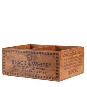 Vintage Whiskey Box - Black & White