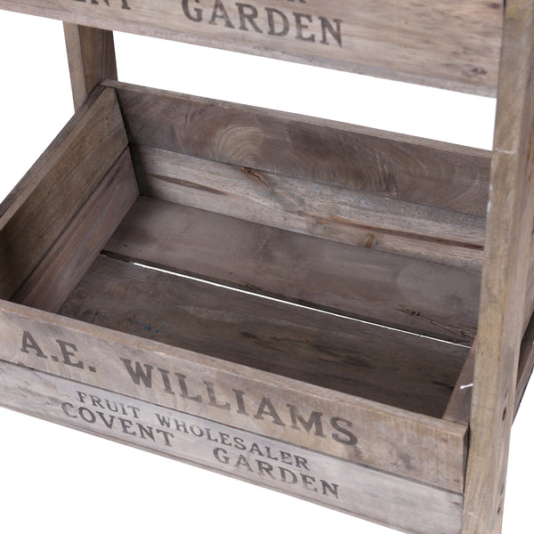 3 Tier Crate Display with Chalk Board - Close Up