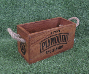 Plymouth Gin Crate with Rope Handle for 2 Bottles