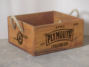 Plymouth Gin Crate with Rope Handle for 6 Bottles
