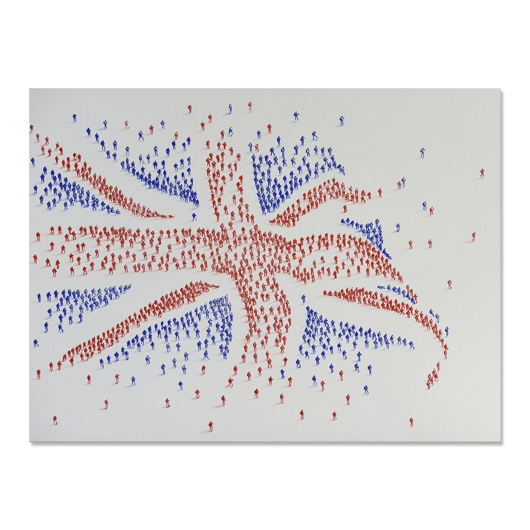 Handpainted Union Jack Flag Canvas