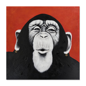 Hand Painted Funky Chimp Canvas
