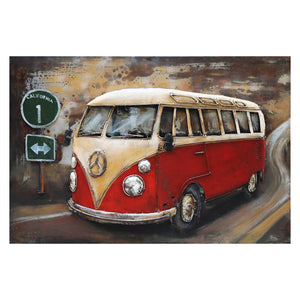3D Metal VW Camper Painting