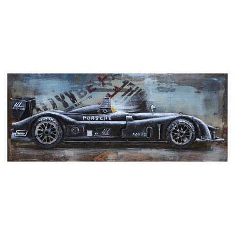 3D Metal Black Porsche Painting