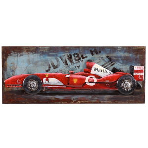 3D Metal Ferrari Painting