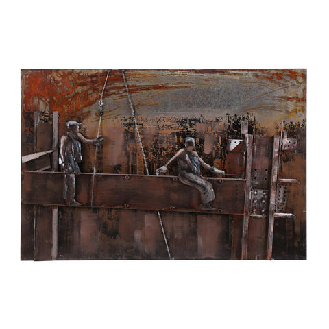 3D Industrial Revolution Metal Painting