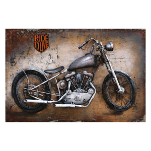 3D Metal Love To Ride Painting