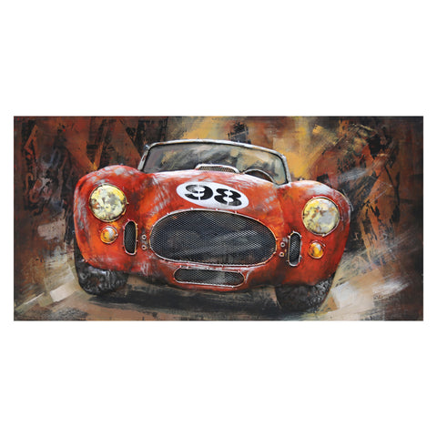 3D Metal Classic Racing Car Painting