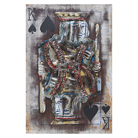 3D Metal King of Spades Painting