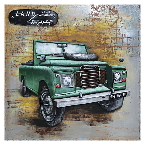 3D Metal Land Rover Front Painting