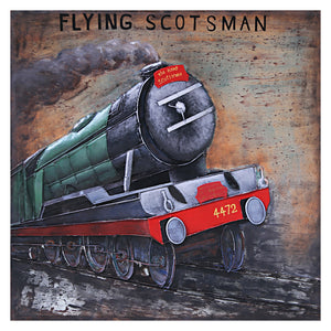 3D Metal Flying Scotsman Painting