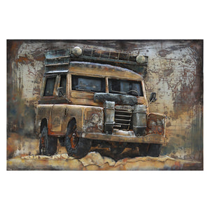 3D Metal Land Rover Painting