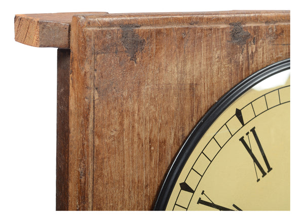 old wooden chapati table clock