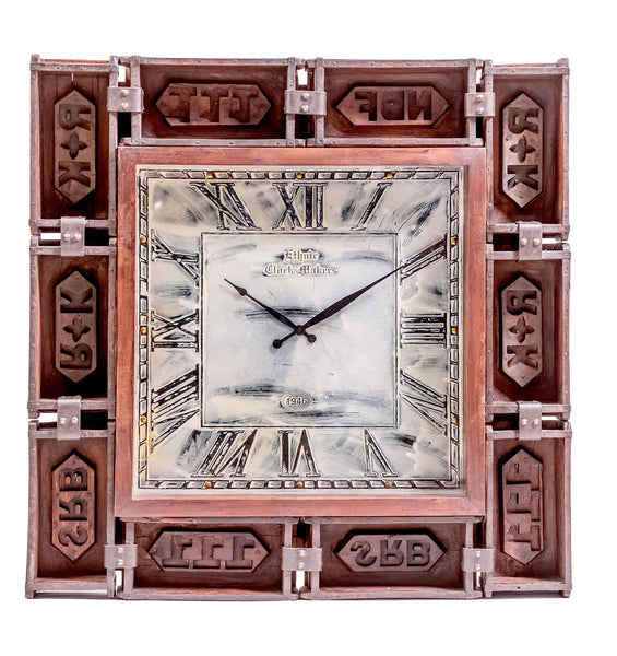 Large Upcycled Brick Mould Wall Clock