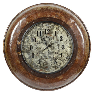 Upcycled Antique Parat Cooking Bowl Wall Clock