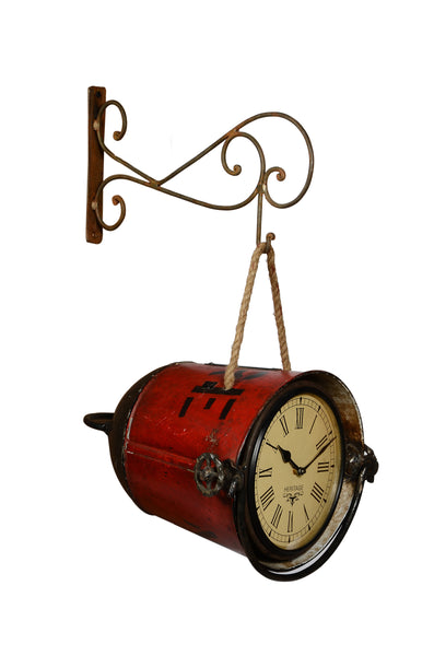 Recycled Fire Bucket Clock