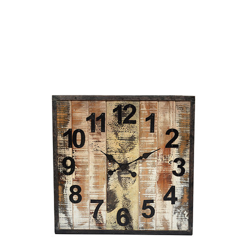 Wooden sq. clock