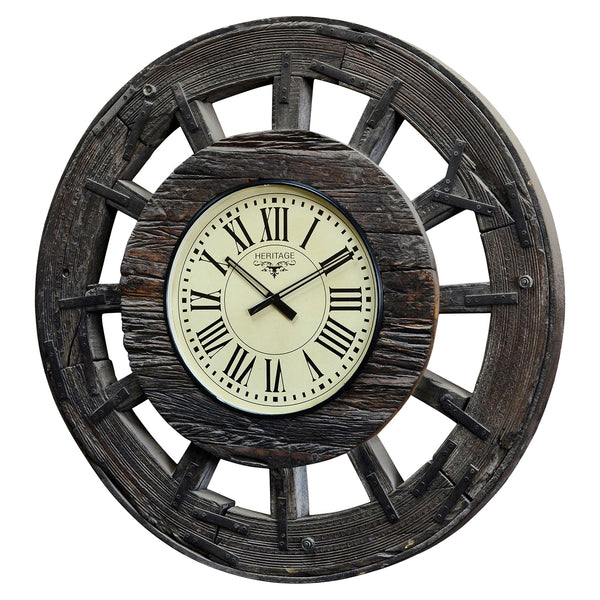 Old wheel clock
